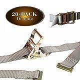 20 E Track Ratchet Tie-Down Cargo Straps, 2