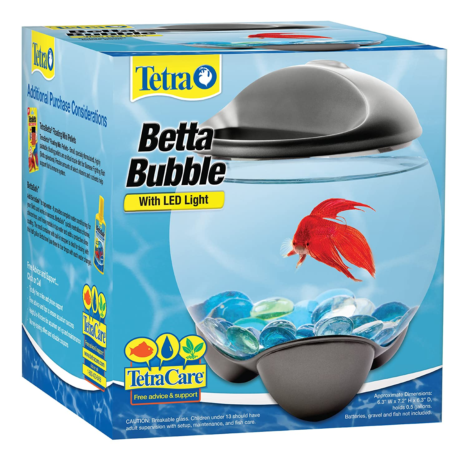 Fish for aquarium online - Tetra 29263 Betta Bubble Betta Bowl With Led Light Amazon In Pet Supplies