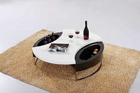 Modern Round Coffee Table with Storage - CJM037