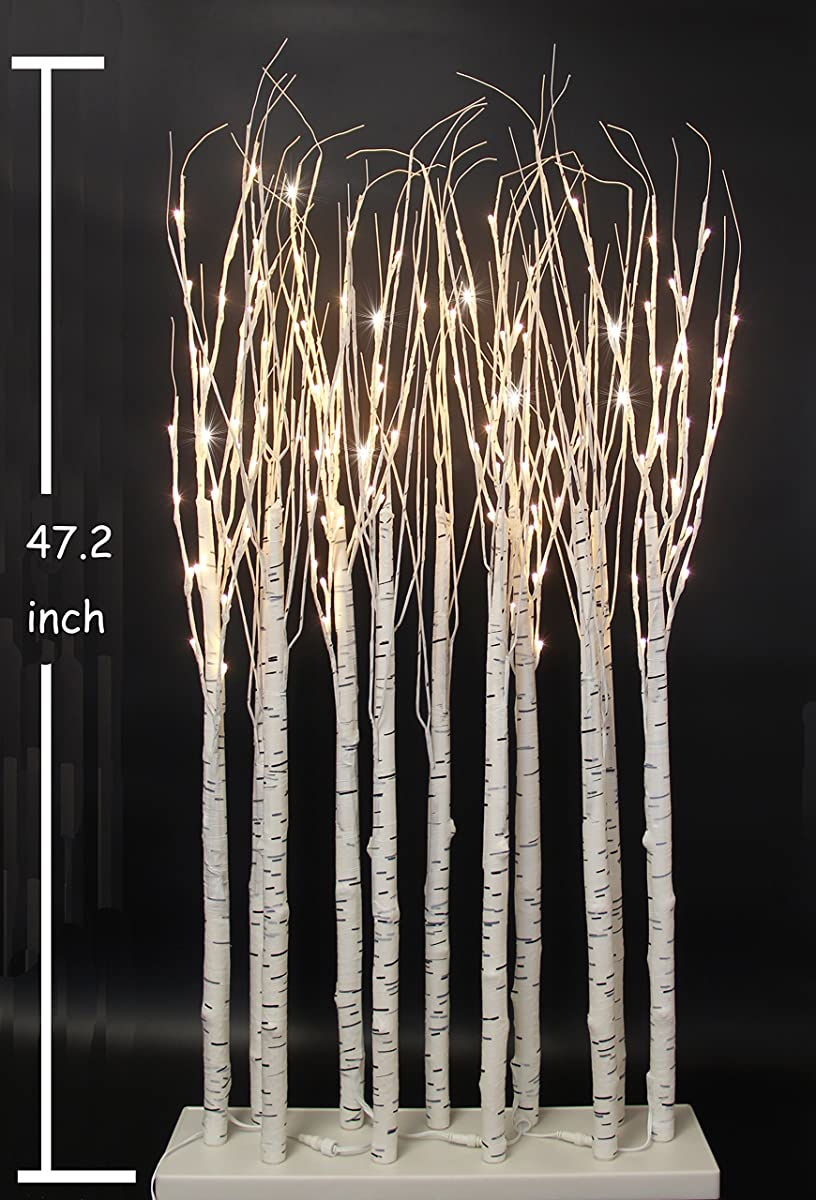 Festaled Led 4ft 128 Led Grove Birch Tree Ideal For Indoor