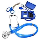 ASATechmed Nurse/EMT Starter Pack Stethoscope, Blood Pressure Monitor and Free Trauma 7.5