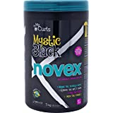 Novex Mystic Black Deep Conditioning Mask (35oz) Baobab Oil Intense Hydration and Moisture to Kinky, Curly, Natural Hair. Controls Frizz, Softens, Dry, Damaged, Relaxed, Colored Hair (Tamaño: 35.2 oz)