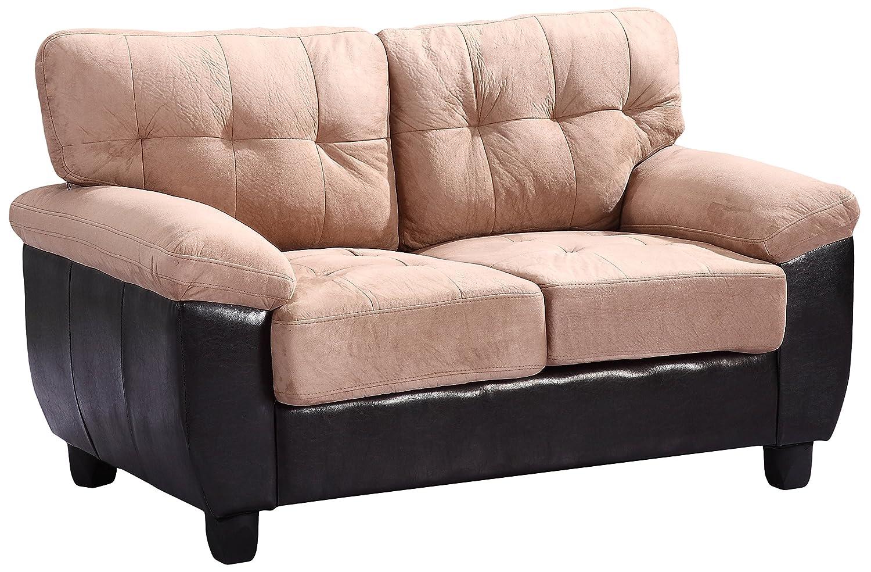 Glory Furniture G908A-L Living Room Love Seat - Mocha