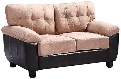 Glory Furniture G908A-L Living Room Love Seat, Mocha