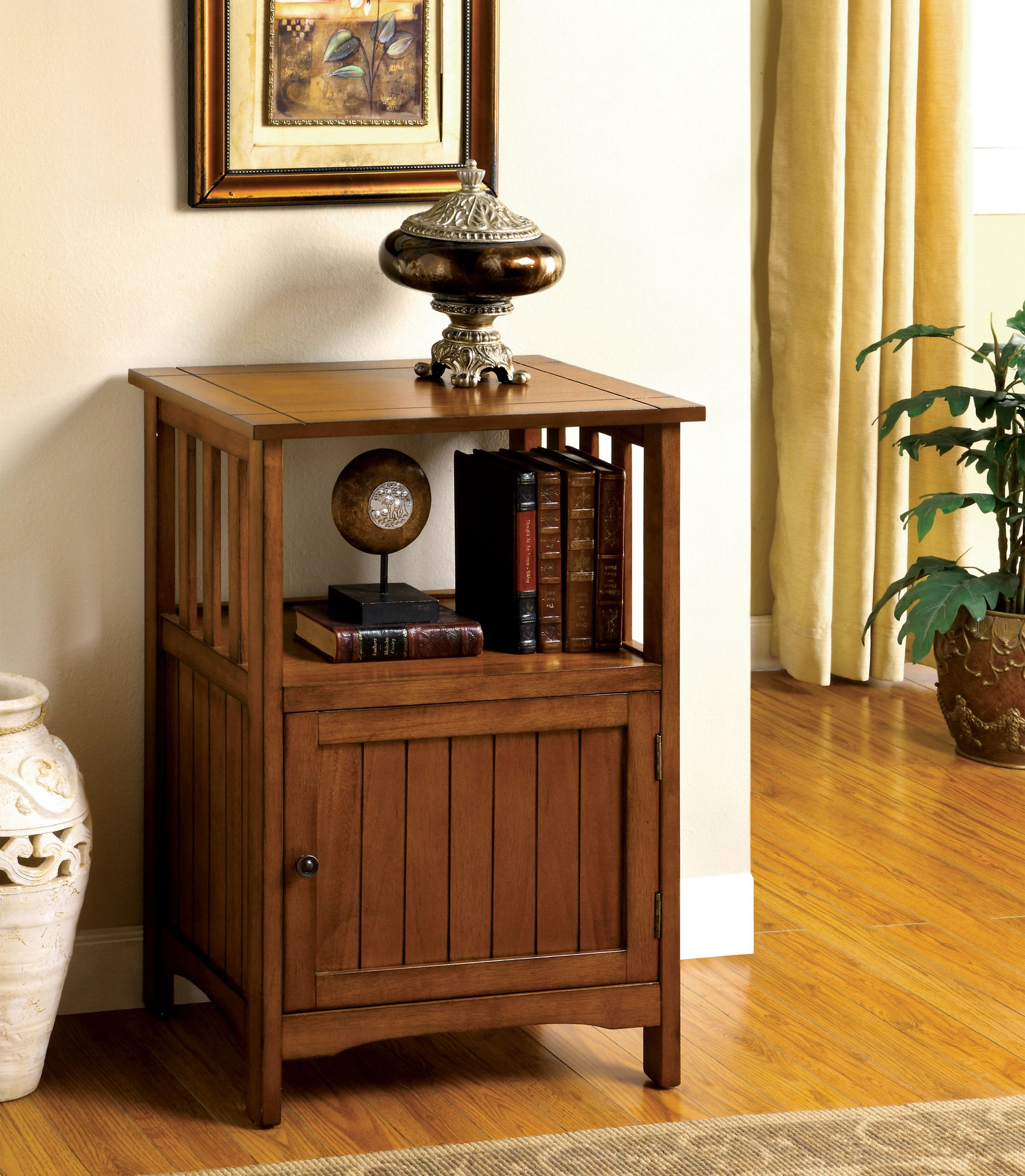 Furniture of America Pompey Mission Style End Table