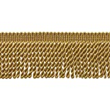 DecoPro 10 Yard Value Pack of GOLD 2.5 Inch Bullion Fringe Trim, Style# EF25 Color C4 (30 Ft/9.5Meters)