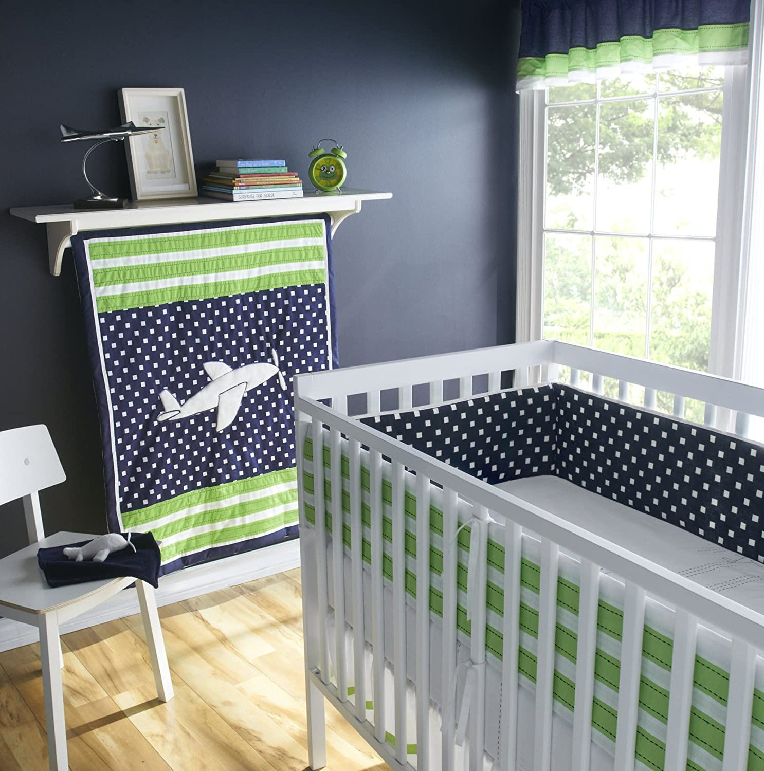 Airplane crib bedding totally kids totally bedrooms kids bedroom ideas - Airplane baby bedding sets ...
