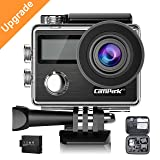 Action Camera Campark X20 4K 20MP Touch Screen Waterproof Video Cam SONY Sensor Underwater Camcorder with EIS, Dual Screen, Remote Control