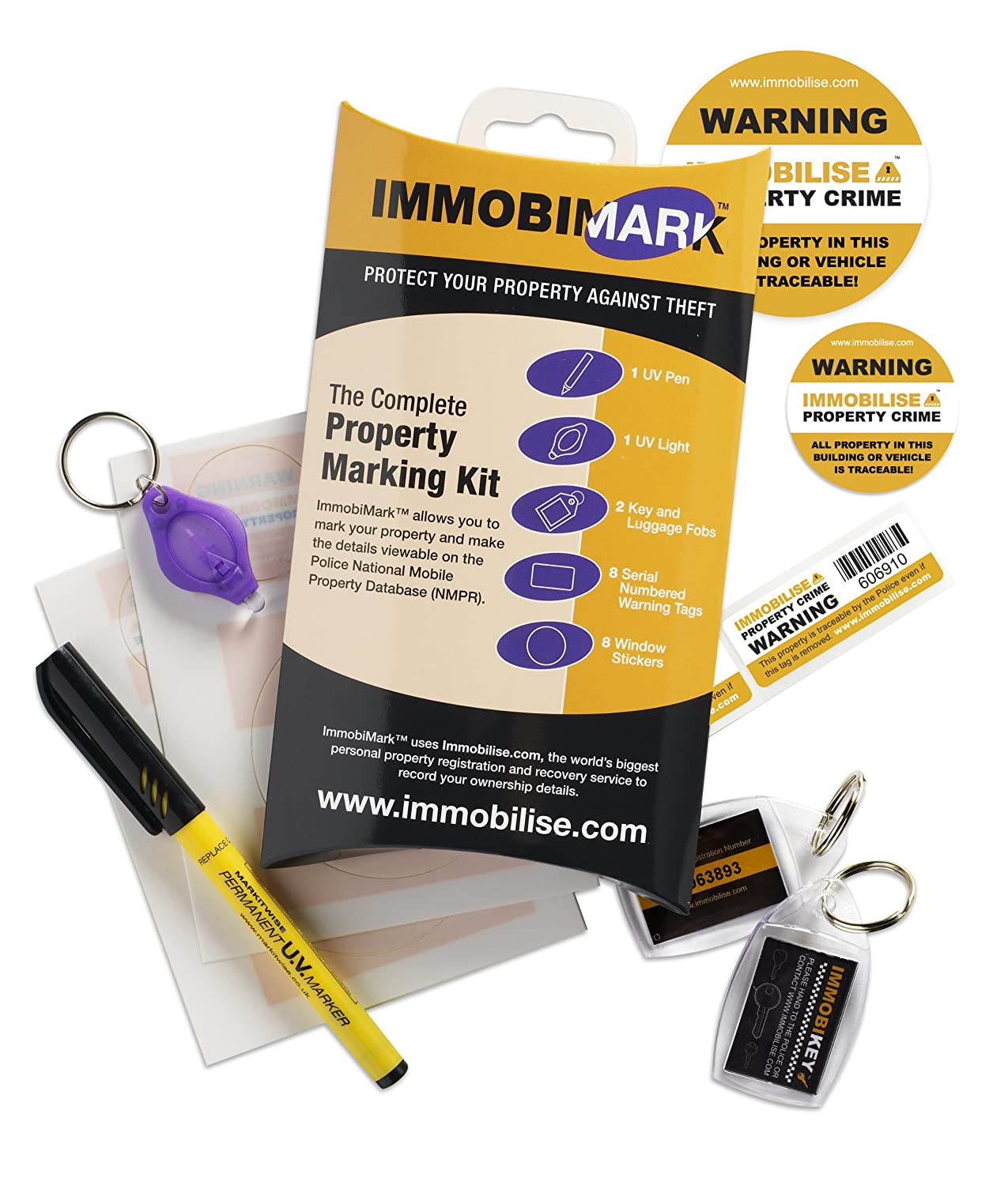 Buy a property marking kit on Amazon now!