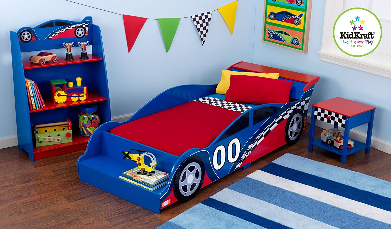 4pc Queen Size Platform Bedroom Set In Mahogany Finish Kidkraft Racecar Toddler Bed