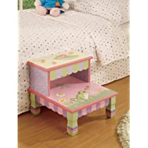 Teamson Kids Girls Wooden Step Stool - Magic Garden Room Collection