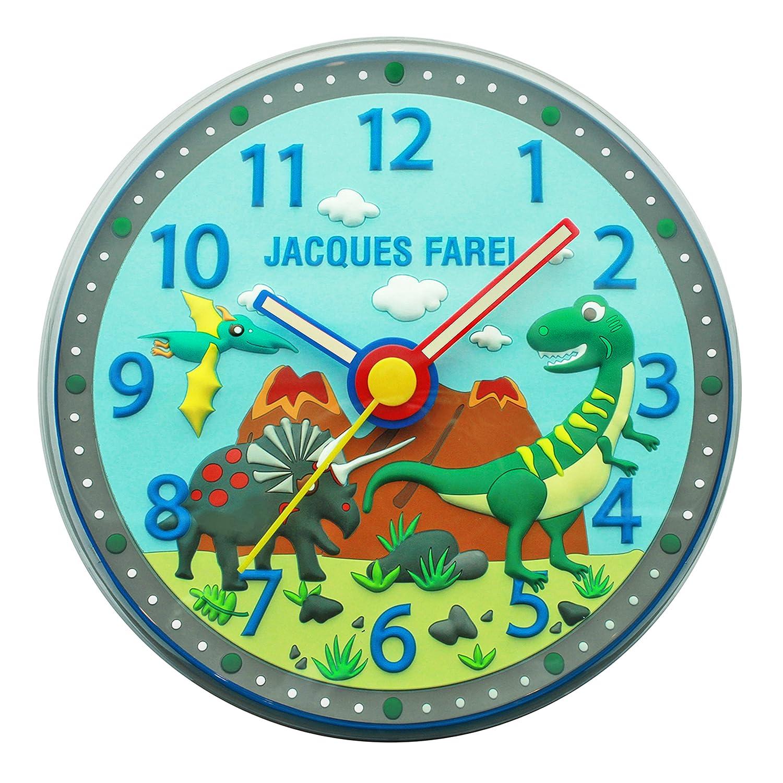 Jacques Farel Kinder Wanduhr in 3D Optik – Dinosaurier günstig online kaufen
