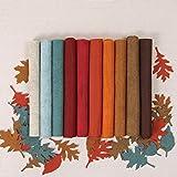 Wool Felt, Harvest Moon Fall Colors, 10 Sheets Autumn Wool Blend Felt (10 1/2 Yard cuts) (Tamaño: 10 1/2 yard cuts)