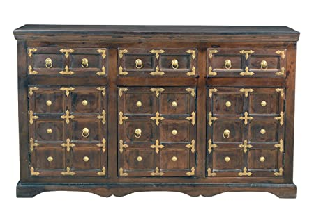 Sit-Möbel 7403-30 cómoda de pared, acabado antiguo, madera VIEJA RECICLADA, 150 x 40 x 90 cm, marrón