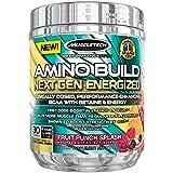MuscleTech Amino Build Next Gen Energized, Best BCAA Amino Acids Formula with Energy, Fruit Punch, 9.86 oz. (280g) (Color: Energized Fruit Punch, Tamaño: ENERGIZED Fruit Punch)