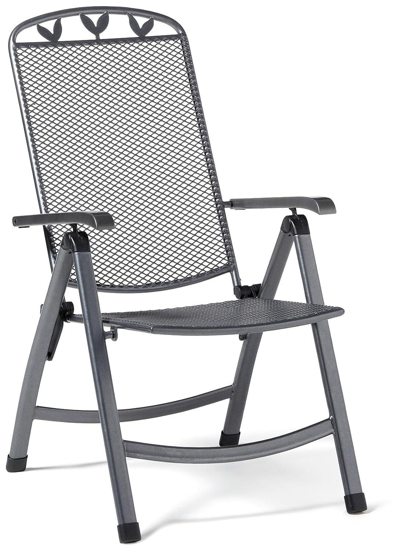 Greemotion Klappsessel Toulouse, anthrazit/schwarz/silber, Artikelmaße: ca. 58 x 64 x 108 cm online kaufen