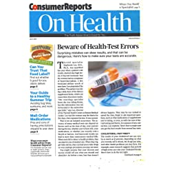 1-Year (12 issues) of Consumer Reports On Health Magazine Subscription