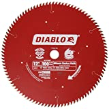 Freud D12100X 100 Tooth Diablo Ultra Fine Circular Saw Blade for Wood and Wood Composites, 12-Inch (Color: Red, Tamaño: 1)
