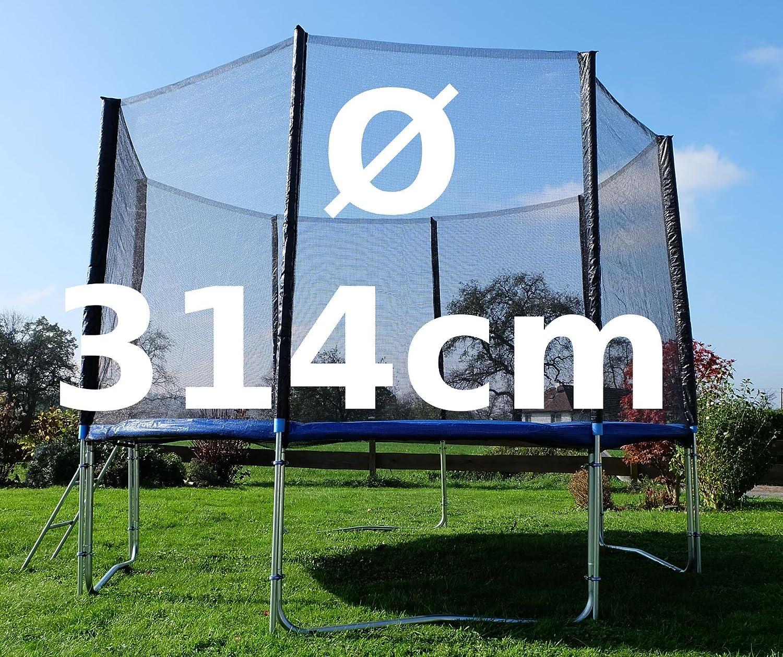 Outdoor Gartentrampolin Trampolin XL – 314cm komplett inkl. Sicherheitsnetz und Leiter TÜV geprüft von AS-S online kaufen