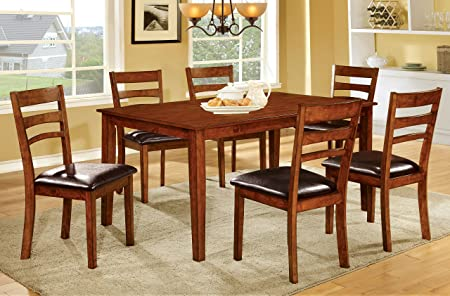 Furniture of America Bradford 7-Piece Transitional Dining Set