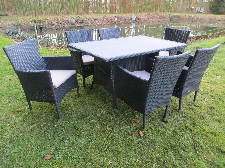 """14-teilige hochwertige Polyrattan Gartenmöbel Gruppe """"Suzy #f"""" aus dem Hause Dacore – RRR, inkl. passender Schutzhülle jetzt bestellen"""