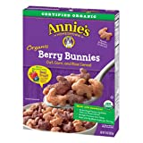 Annie's Organic Cereal, Berry Bunnies, Oat, Corn, Rice Cereal, 10oz Box (Tamaño: 10 Ounce)