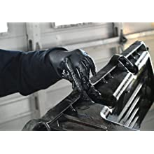 Ammex SN Slate Black Nitrile Glove, Latex Free, Disposable, Powder Free
