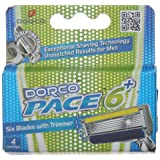 Dorco Pace Razor Blade Refills - 6 Blade Razor Cartridge For Men