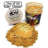 Gold Pigment Powder for Resin, Cosmetics Grade Metallic Pearls Pigment Powder, Gold Shimmer Mica Pigment for Resin Making, Casting Pigment, Gold Metal Powder Mica, Stardust Micas (Color: Gold Shimmer, Tamaño: 72 Gram Jar)