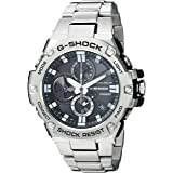 Casio Men's 'G-Shock' Quartz Resin and Stainless Steel Dress Watch, Color:Silver-Toned (Model: GST-B100D-1ACR) (Color: Graphite)