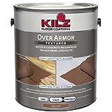 KILZ Over Armor Textured Wood/Concrete Coating, 1 gallon, Chocolate Brown (Color: Chocolate Brown, Tamaño: 1 Gallon)