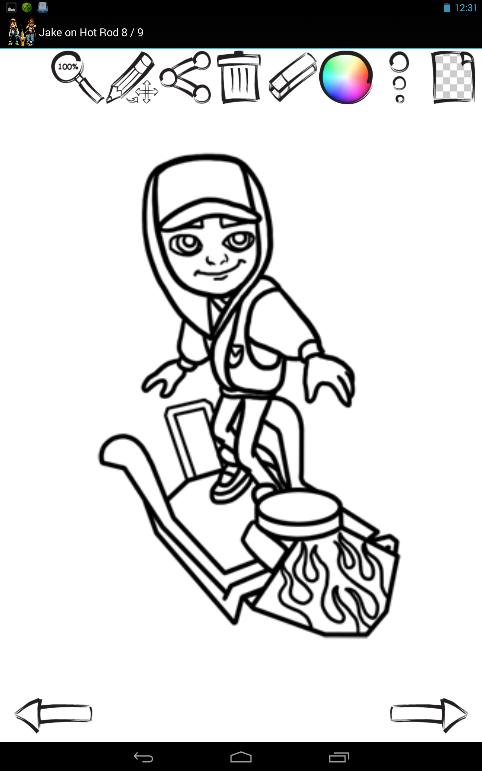 subway surfer coloring pages - photo#8