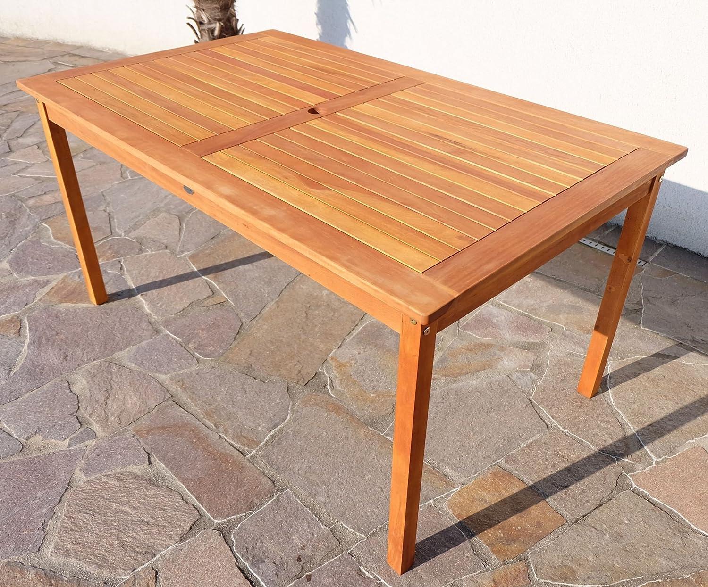XL Holztisch Gartentisch Esstisch Garten Tisch 150x90cm Aus Holz Eukalyptus  Geölt Wie Teak Modell: U0027