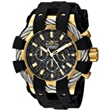 Invicta Men's 'Bolt' Quartz Stainless Steel and Silicone Casual Watch, Color:Black (Model: 23860) (Color: Black)