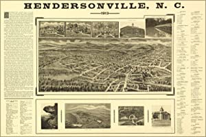 Map of Hendersonville, North Carolina