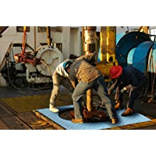 "Spilfyter M-151 Blue Heavy Duty Premium Oil Only Railroad Track Mat, Center Piece, 80' Length x 58"" Width"