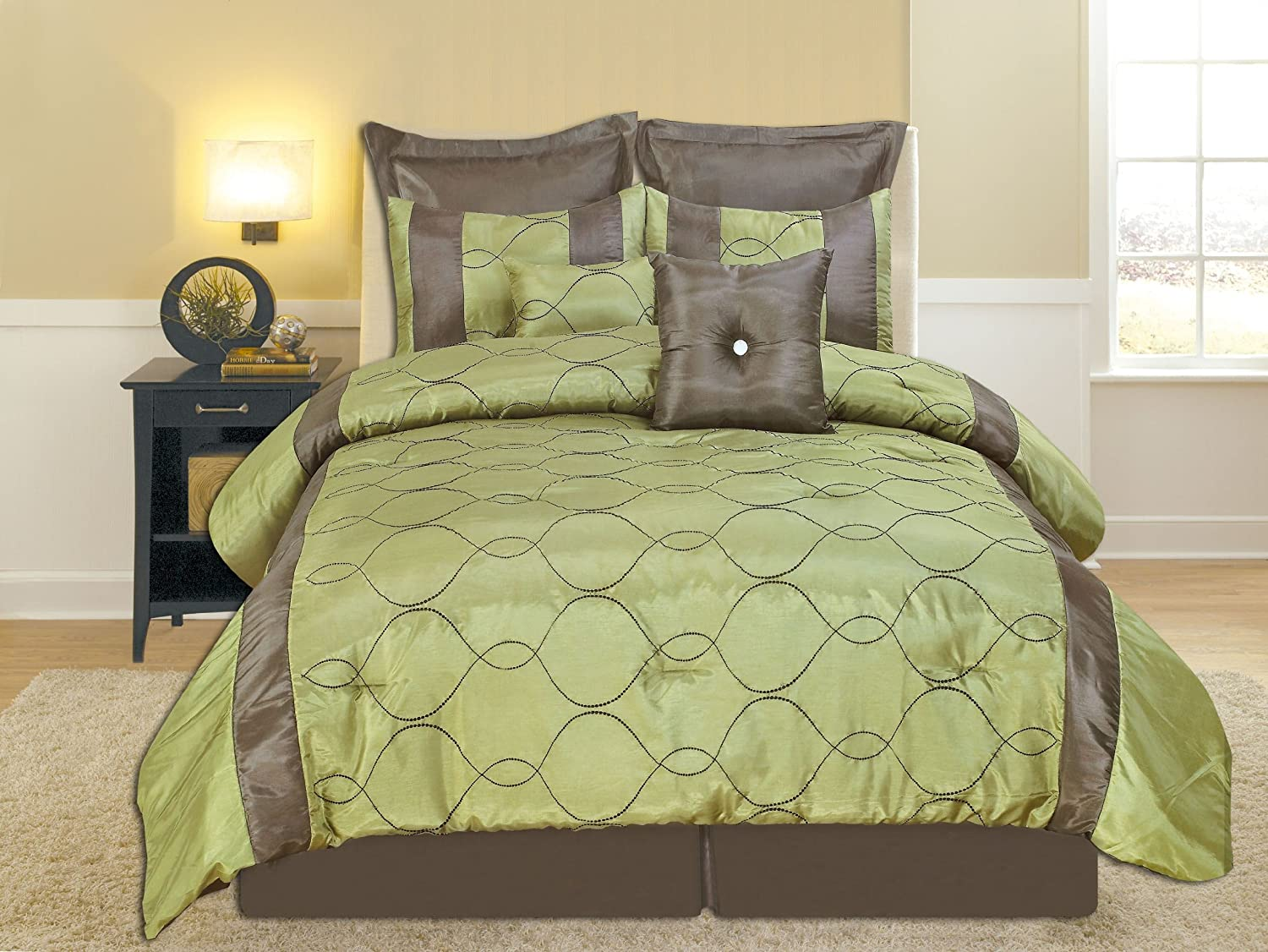 Green and yellow bedding set memes - Green and brown comforter ...