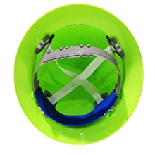 ERB 19200 Americana Full Brim Hard Hat with Slide Lock, Flourescent Lime