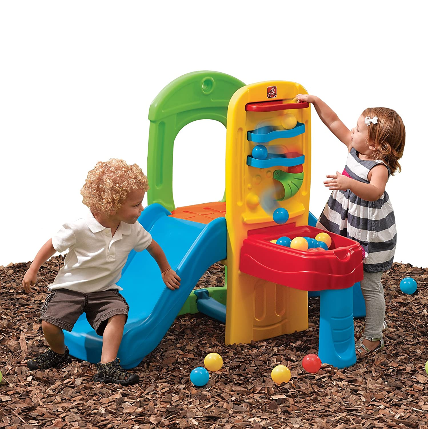 Playground Toys For Toddlers : Small outdoor toddler slide plastic balls climber backyard