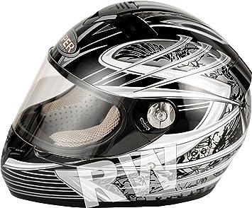 Viper rS-k33 enfant complète du visage, casque de moto, casque intégral-noir/argent