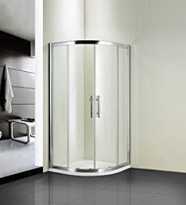 Dss 900 Walk in Quadrant Shower Enclosure Cubicle, Stone Tray & Free Waste CHEAPEST ON AMAZON       reviews