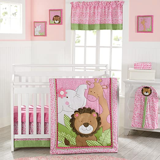 Laugh Giggle and Smile Sassy Jungle Friends Crib Bedding