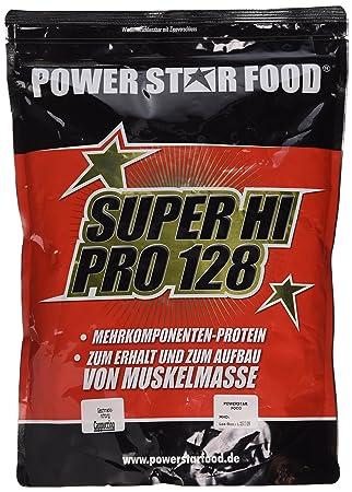 SUPER HI PRO 128, Top-Protein, 1000g Beutel, Protein-Bestseller von höchster biologischen Wertigkeit 128, Geschmack: Cappuccino