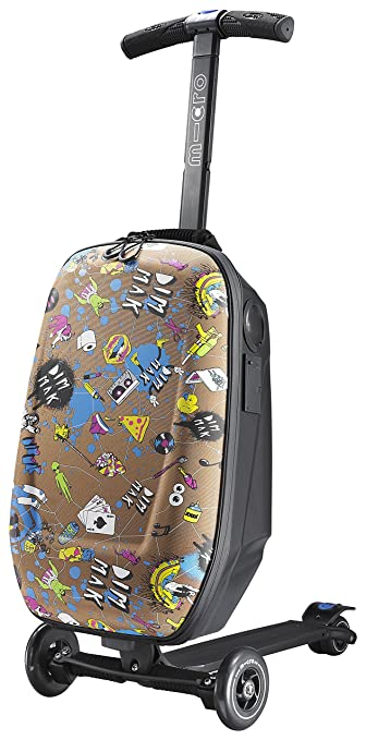 Valise trottinette Micro Luggage Steve Aoki Edition avec Bluetooth