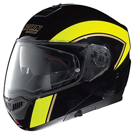 Nolan n104 casque de moto evo scovery n-com noir/jaune taille l 59/60