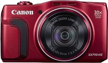 """Canon PowerShot SX710 HS Appareil photo numérique Compact 20,3 Mpix Écran LCD 3"""" Zoom Optique 30X - Rouge"""