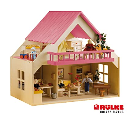 Rulke Holzspielzeug 23195 Maison de poupée avec balcon Vert