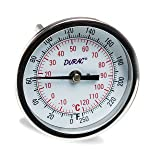 H-B DURAC Bi-Metallic Dial Thermometer; -20 to 120C (0 to 250F), 1/2 in. NPT Threaded Connection, 75mm Dial (B61310-7200) (Tamaño: 75mm Dial, 62mm Probe)