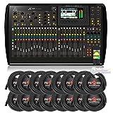 BEHRINGER DIGITAL MIXER X32. With 16 XLR To XLR Cables 50FT EA.