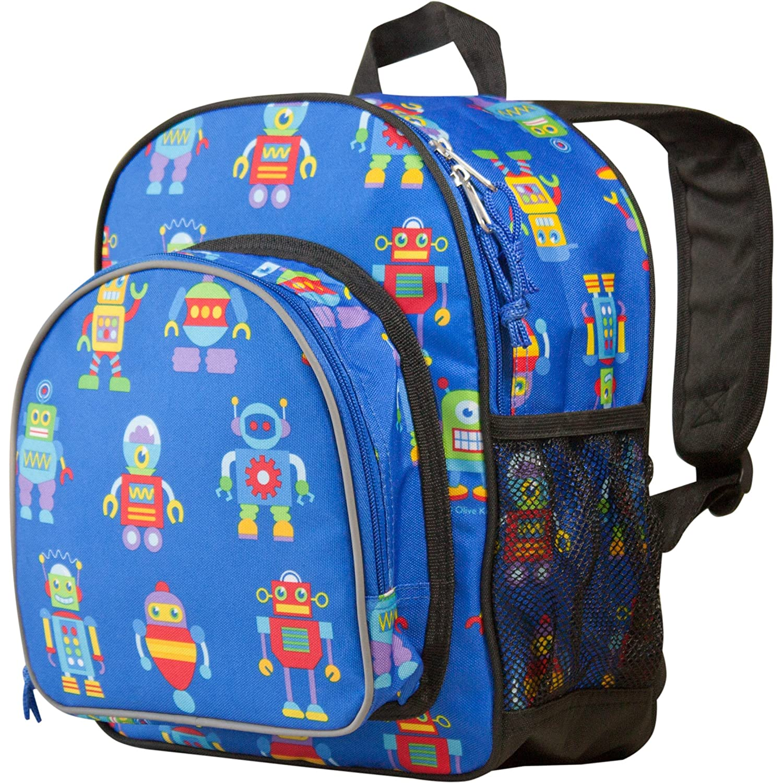 Wildkin Toddler Pack 'n Snack Backpack Robots